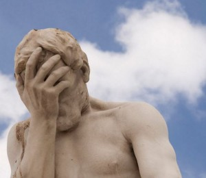 statue of frustration