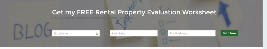 FREE Rental Property Evaluation Worksheet